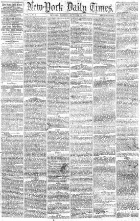NYT dated September 18, 1851